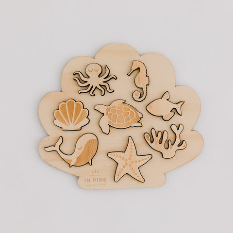 Wholesale Ocean Puzzle - Pretty in Pine