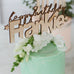 Custom Happy Birthday Name Cake Topper - Pretty in Pine