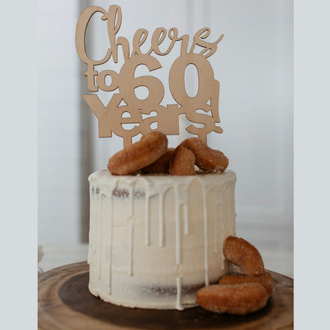 Custom Cheers Age Cake Topper