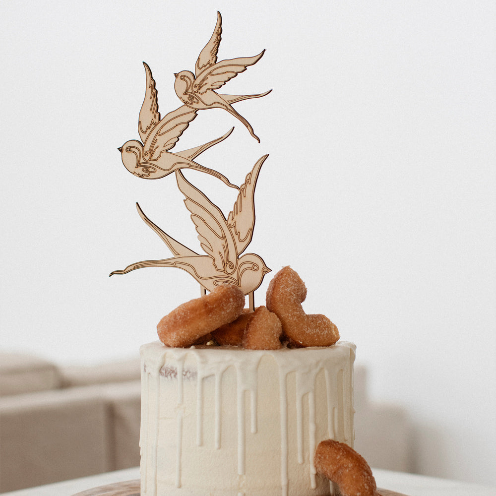 Swallows Cake Topper - Pretty in Pine