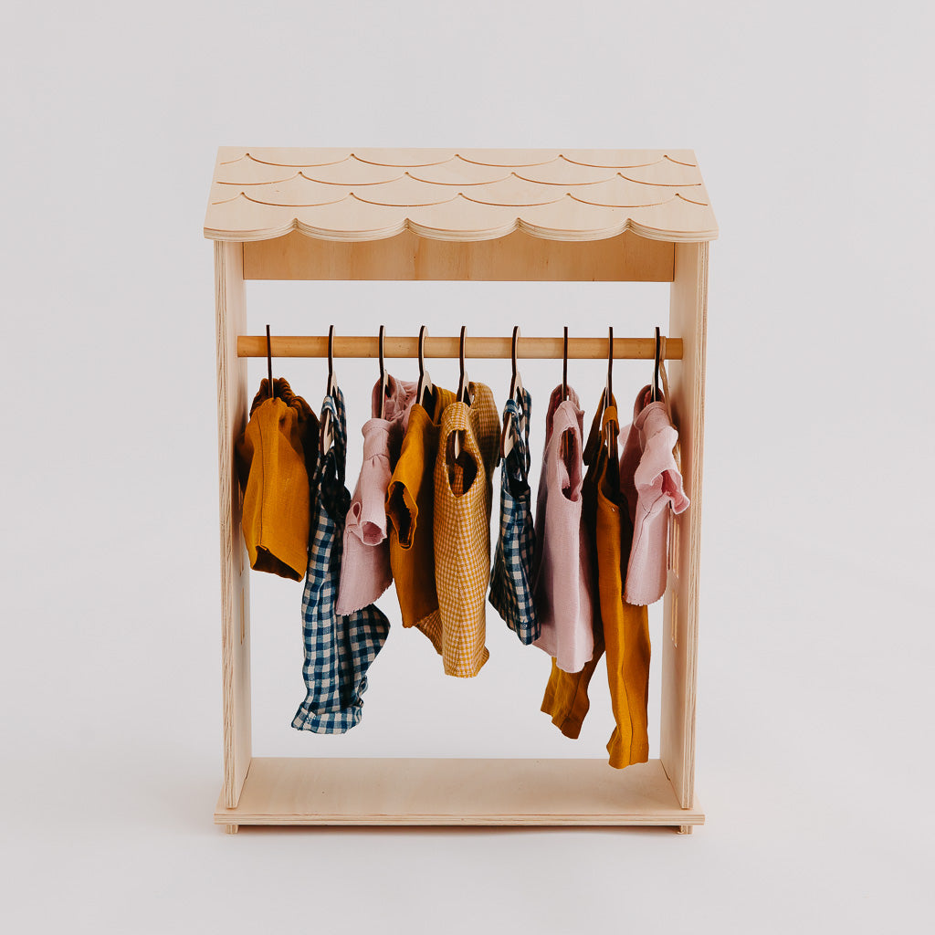 Wholesale Dolls Clothes Rack - Pretty in Pine