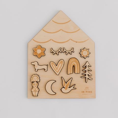Wholesale House Puzzle - Pretty in Pine