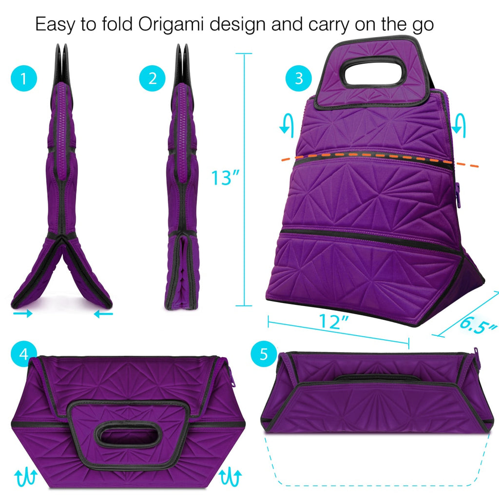 Lunch Tote Bag - Purple