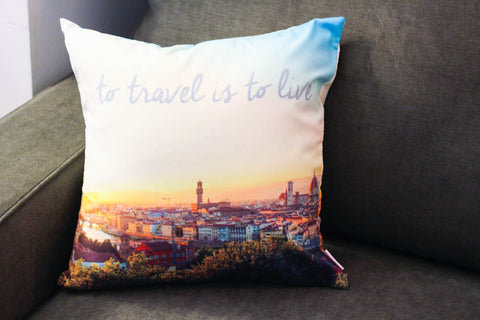 Cheeky Mint To Travel is To Live Pillow