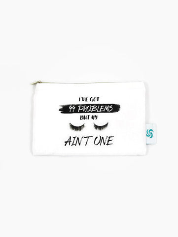 I've Got 99 Problems But My Eyelashes Ain't One Cute Cheeky Mint Makeup Bag