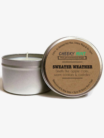 Sweater Weather Fall Apple Cider Soy Candle