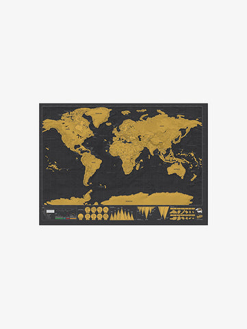 Scratch Off Map Black and Gold