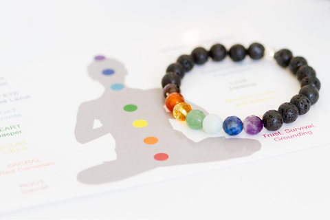 Laced with Kindness Lava Stone Bracelet