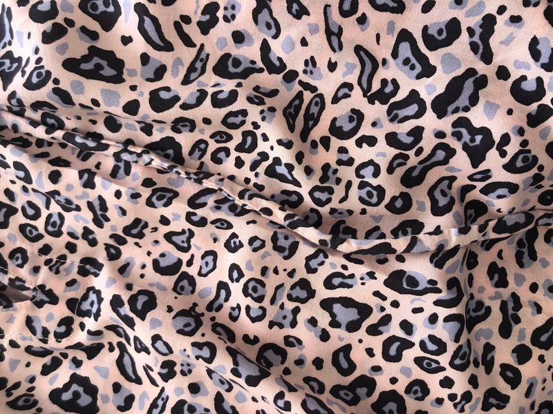 Boho Maxi Dress Audrey Animal Print close up.  Perth Australia Womens Collection Spring Summer 2020 LWK