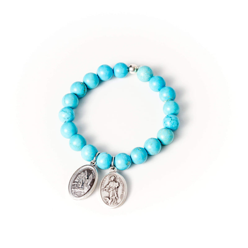 crystal-jewellery-for-gifts BRACELET | BLUE HOWLITE