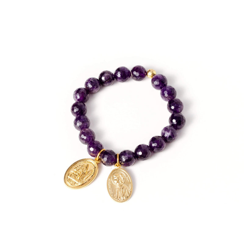 crystal-jewellery-for-gifts BRACELET GOLD | AMETHYST