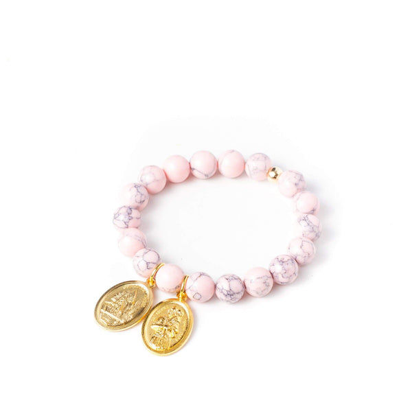 crystal-jewellery-for-gifts BRACELET GOLD | BLUSH MAGNESITE
