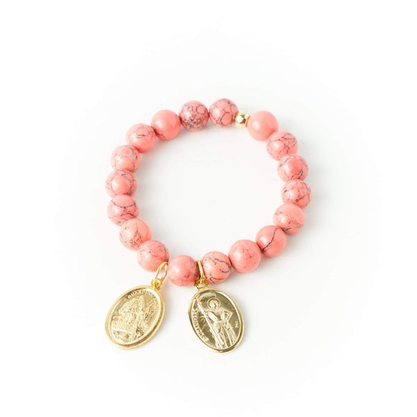 crystal-jewellery-for-gifts BRACELET GOLD | CORAL MAGNESITE
