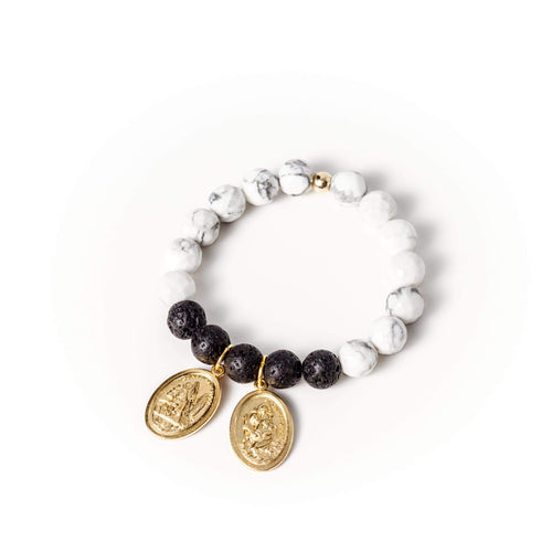 crystal-jewellery-for-gifts BRACELET GOLD | MONOCHROME WHITE