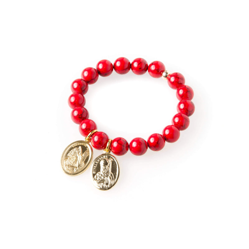 crystal-jewellery-for-gifts BRACELET GOLD | RED MAGNESITE | LIMITED EDITION