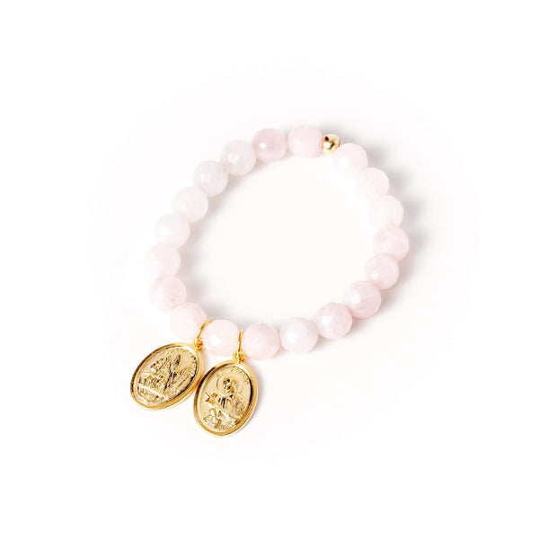 crystal-jewellery-for-gifts BRACELET GOLD | ROSE QUARTZ