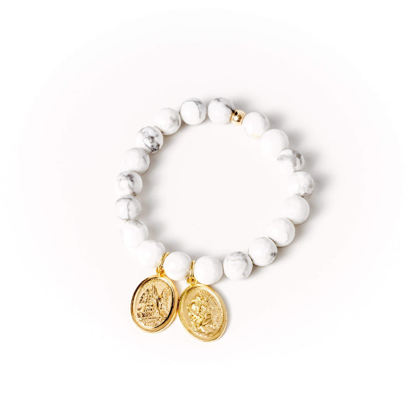 crystal-jewellery-for-gifts BRACELET GOLD | WHITE HOWLITE