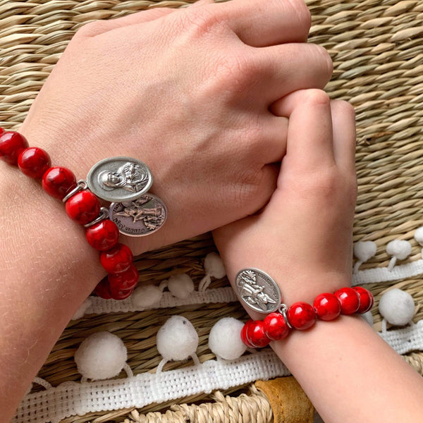 crystal-jewellery-for-gifts BRACELET | RED MAGNESITE