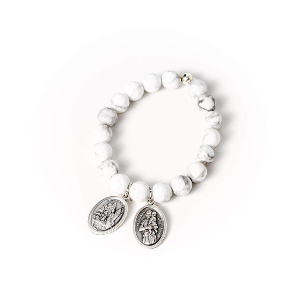 crystal-jewellery-for-gifts BRACELET | WHITE HOWLITE