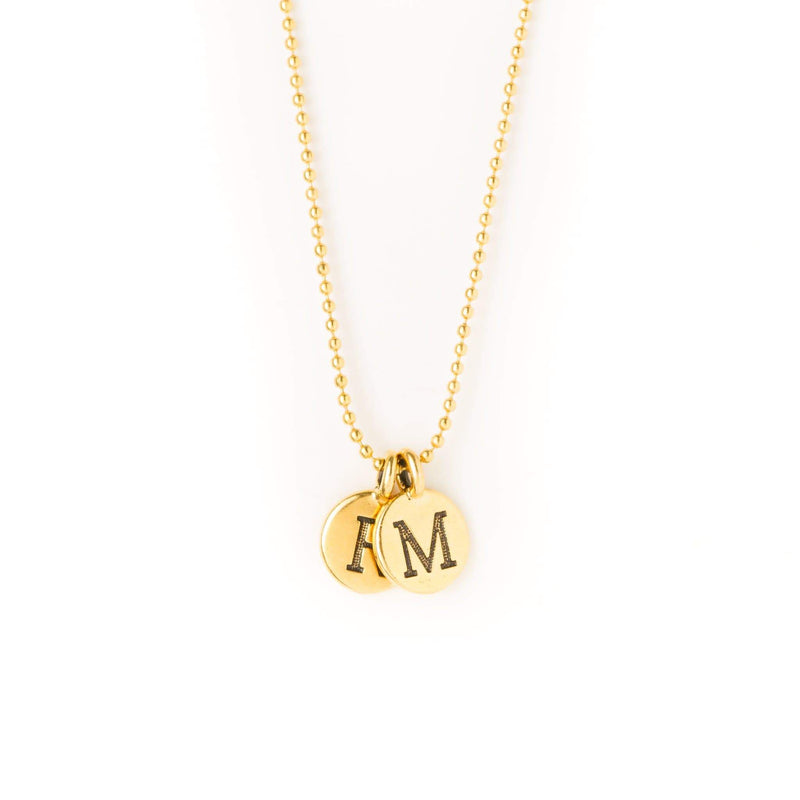 crystal-jewellery-for-gifts INTITAL NECKLACE | GOLD