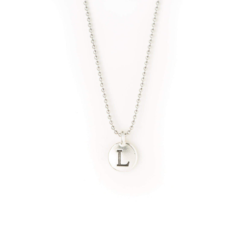 crystal-jewellery-for-gifts INTITAL NECKLACE | SILVER