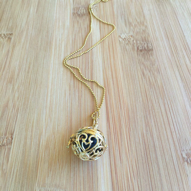 crystal-jewellery-for-gifts LAVA DIFFUSER NECKLACE | GOLD