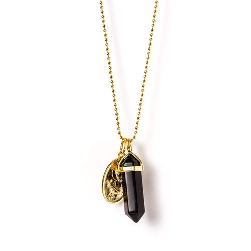 crystal-jewellery-for-gifts PENDANT NECKLACE GOLD | ONYX