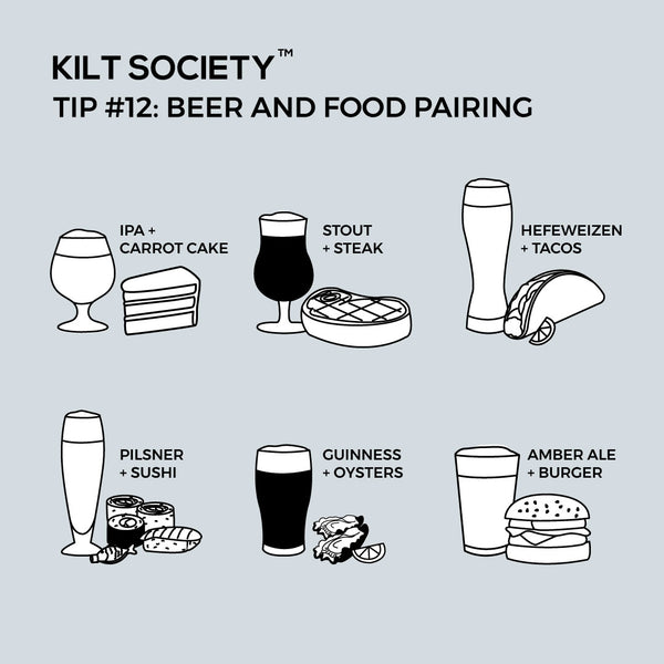 TIP #12: BEER AND FOOD PAIRING