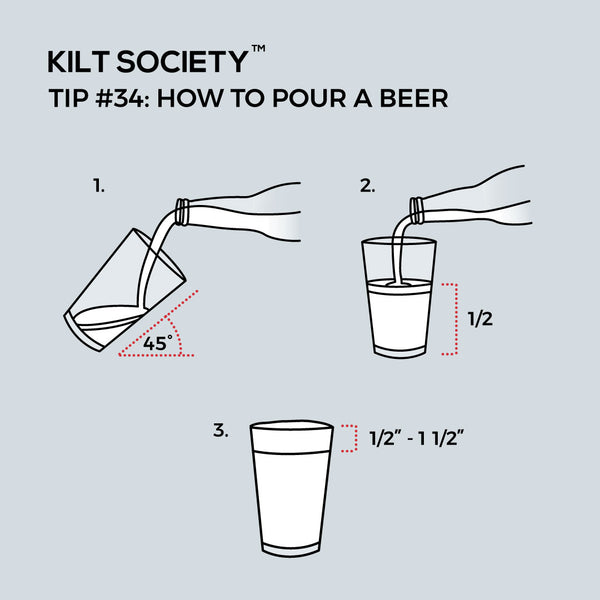 TIP #34: HOW TO POUR A BEER