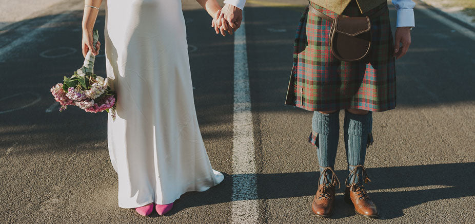 Scottish Wedding Couple