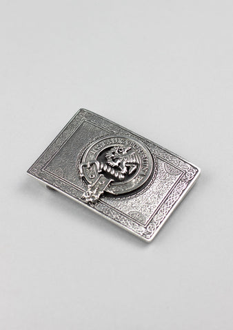 Rectangular Clan Crest Pewter Buckle