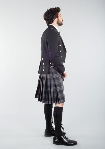 Persevere Flint Grey Prince Charlie Kilt Outfit