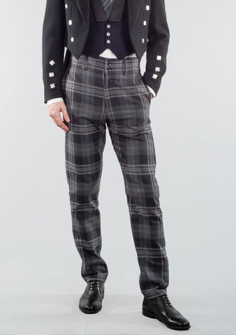 Persevere Flint Grey Tartan Trews