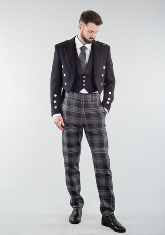 Persevere Flint Grey Prince Charlie Trews Outfit