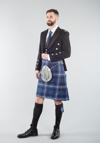 Persevere Thistle Blue Prince Charlie Kilt Outfit