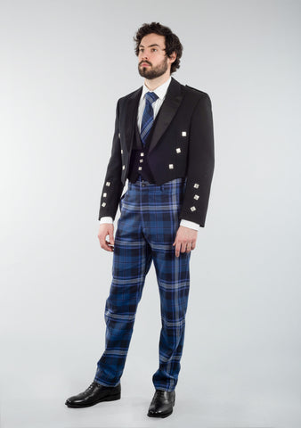 Persevere Thistle Blue Prince Charlie Trews Outfit