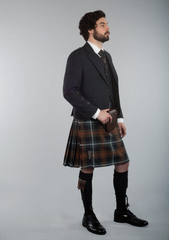 Persevere Weathered Brown Braemar Kilt Outfit