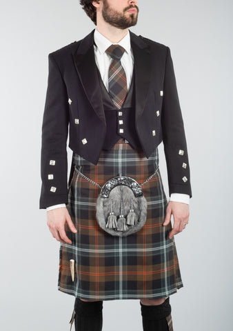 Persevere Weathered Brown Tartan 8 Yard Kilt