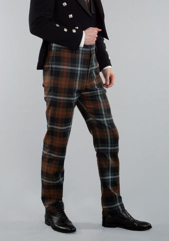 Persevere Weathered Brown Tartan Trews