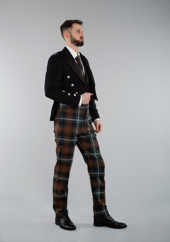 Persevere Weathered Brown Prince Charlie Trews Outfit