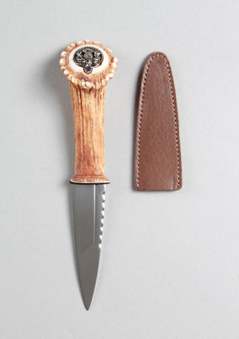 Artificial Stag Horn Clan Crest Sgian Dubh