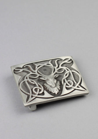 Pewter Stag Buckle