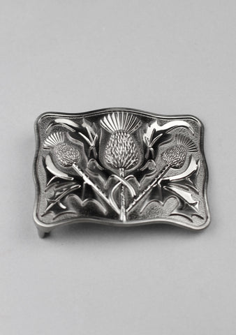 Contemporary Thistle Kilt Belt Buckle