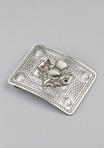 Celtic Knot Buckle With Thistle Mount