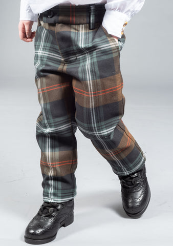 Persevere Weathered Brown Tartan Kids Trews