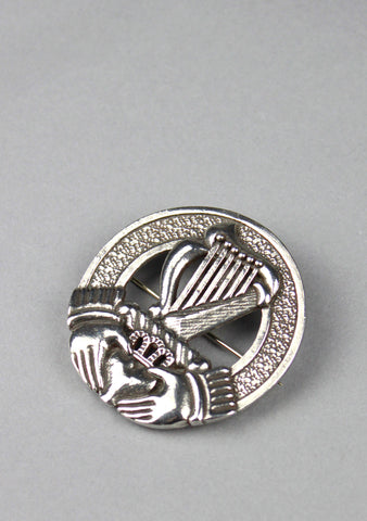 Irish Harp Crest Cap Badge