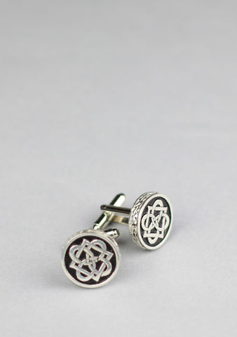 Round Celtic Knot Cufflinks