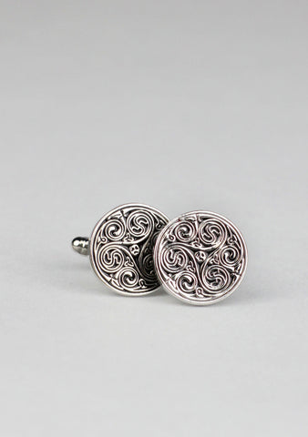 Round Celtic Cufflinks