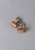 Square Zebrano Wooden Cufflinks