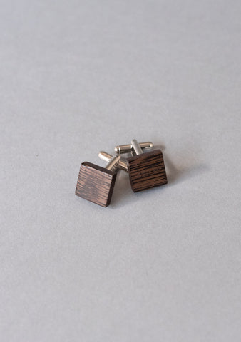 Square Wenge Wood Cufflinks